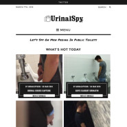 Urinal Spy: watch guys peeing at urinals in public toilets