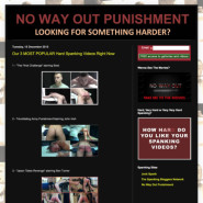 NO WAY OUT PUNISHMENT SPANKING