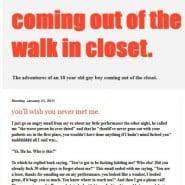 Coming Out of The Long Walk In Closet