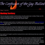 The Confession of the Gay Bullied