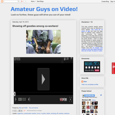 Amateur Guys on Video!