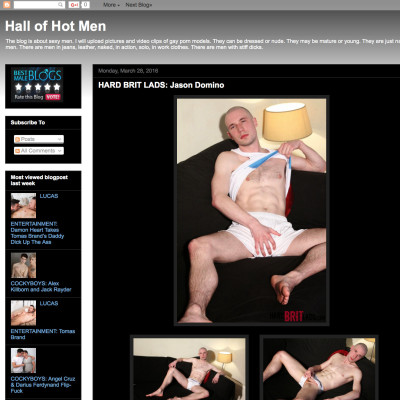 Hall of hot men